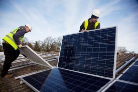 colocaciòn de paneles solares