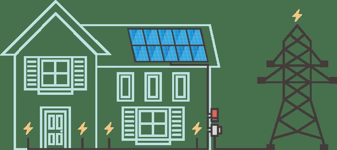 ELECTRICIDAD GENERADA POR ENERGIA SOLAR