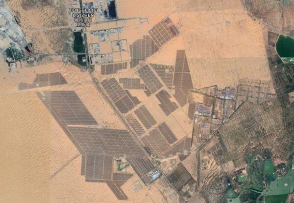 THE GRAN MURALLA CHINA, 1200 km2 of solar panels