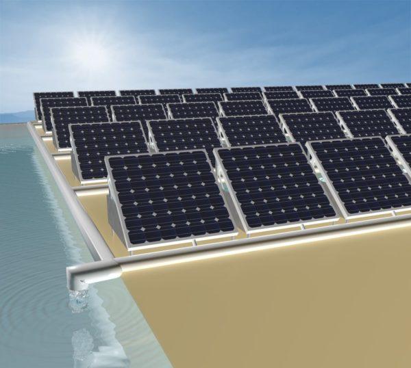 dispositivo de energía solar puede convertir el agua salada en agua potable y producir electricidad al mismo tiempo.