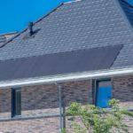 Paneles solares como material de cubierta.